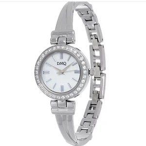 Diamonique BangleBracelet Watch gently worn w/box